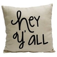 Burlap Hey Y'all Pillow | Shop Hobby Lobby
