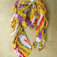 Colorful Chrysanthemum Scarf [2394] - $18.40 : Vintage Inspired Clothing & Affordable Fall Frocks, deloom | Modern. Vintage. Crafted.