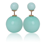 Gum Tee Mise en Style Tribal Earrings - Pastel Light Green