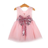 Baby girl dresses summer baby wedding party dress lace princess dress for first birthday party