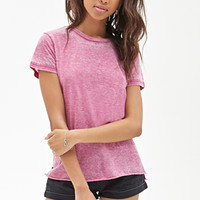 FOREVER 21 Burnout Crew Neck Tee