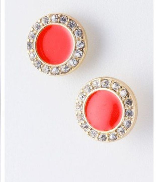 E08 Earrings Studs Wave Circles Opal Fire Opal Blue Crystal White Silver Plated