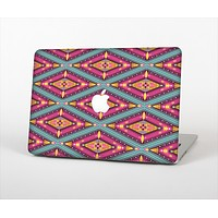 The Pink & Teal Abstract Mirrored Design Skin Set for the Apple MacBook Air 11""