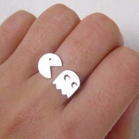 PAC-MAN - on sale - Sterling Silver Ring for 8-bit Game memories