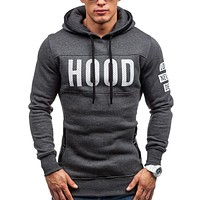 2017 Hoodies Brand Men Chest Letter Printing Sweatshirt Male Hoody Hip Hop Autumn Winter Hoodie Mens Pullover XXXL