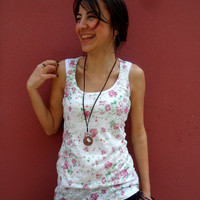 Black Friday Sale! Free Shipping for Today! Floral Printed Sleeveless Women T-shirt both side printed