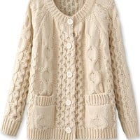 Must-Have Cable Knit Cardigan - OASAP.com