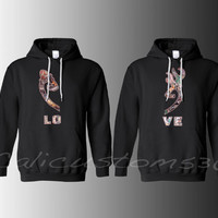 """Country Heart """"LOVE"""" Hoodies for Two"""