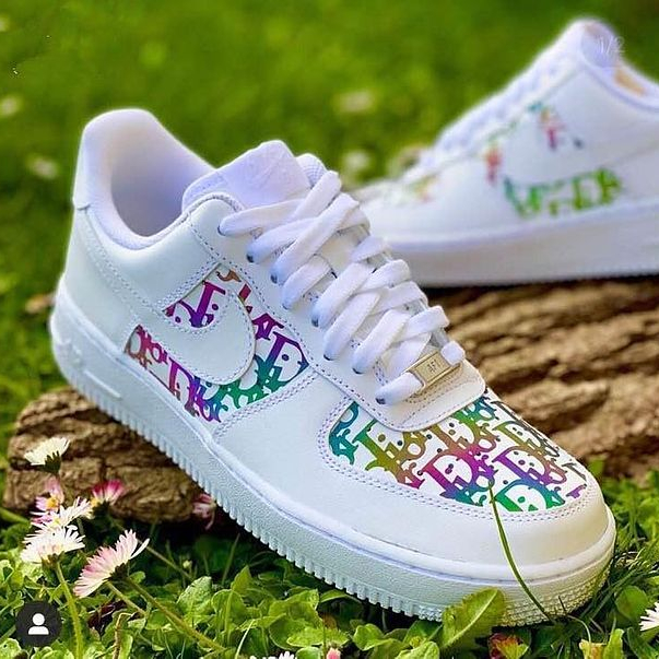 Image of Dior*Nike Air Force One Fashion Casual Shoes