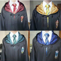 Harry Potter Cosplay Costume Adult Movie Hoodie Slytherin Robes Kids Men Women Gown Halloween Costumes Clothing revise