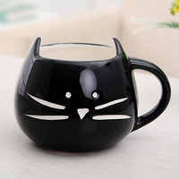Best Selling Coffee Cup White Cat Animal Milk Cup Ceramic Lovers Mug