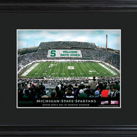 College Stadium Print with Wood Frame - Michingan State