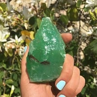 "Large Green Calcite Crystal (Rare ""Emerald"" Color)"