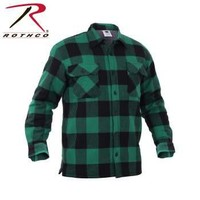 Extra Heavyweight Buffalo Plaid Sherpa-lined Flannel Shirts