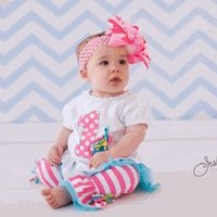 MUD PIE First Birthday Outfit for girls