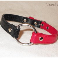 Harley Quinn Collar - Faux Leather BDSM Collar
