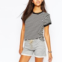 Camp Collection Retro Ringer T-Shirt In Stripe Print