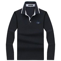 Men Polo Shirt Mens Long Sleeve Solid Polo Shirts Camisa Polos Masculina Casual cotton Plus size S-10XL Tops Tees