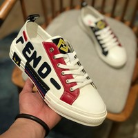 FENDI  Men Casual Shoes Boots fashionable casual leather