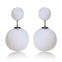 Gum Tee Mise en Style Tribal Earrings - Velvet Matte White
