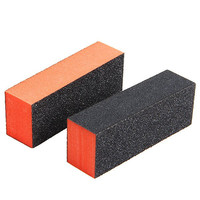 2 PCS Rectangle Nail Art Sanding Polishing Buffer Block Grinding Tool