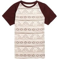 AMBIG Connect Short Sleeve Knit T-Shirt - Mens Tee - Red -