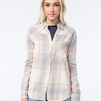 Element Pine Womens Flannel Shirt Natural  In Sizes