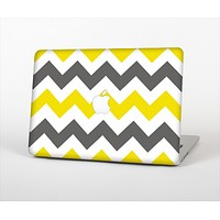 """The Gray & Yellow Chevron Pattern Skin Set for the Apple MacBook Air 11"""""""