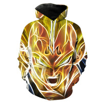 Super Saiyan Majin Vegeta Dragon Ball Z Hoodie