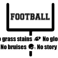 Wall Decal, Football, touchdown, man cave decor, boys room decor, Quote, Wall sticker, Vinyl Decal, By Otrengraving on Etsy