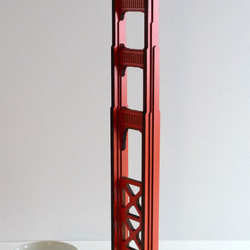Golden Gate Bridge Tower in Basswood