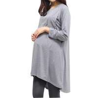 Maternity Hoodie Clothing Cotton Long Sleeve Pullover Autumn Winter Lactation Nurse Top Dress Clothes Jackets For Pregnant Women
