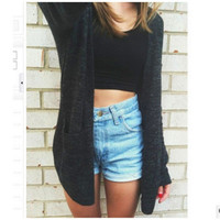 2016 Trending Fashion Women Cardigan Casual Loose Outerwear Jacket _ 7991