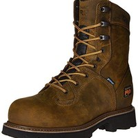 "Timberland PRO Men's 8"" Crosscut Waterproof Steel-Toe Work Boot  timberland boots for men"