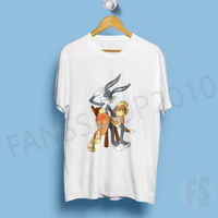 Bugz Bunny and Lola Bunny White TShirt Size S to XL