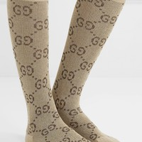 GUCCI Metallic cotton-blend jacquard socks