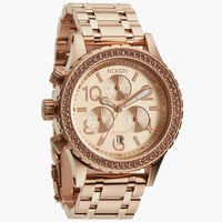Nixon The 38-20 Chrono Watch All Rose Gold One Size For Women 24406938101