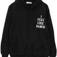 The Life Of Pablo TLOP I Feel Like Pablo Men's Sweatshirt Fashion Street Wear Hoodies Casual Coat Tops Size S-XL