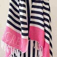 Victoria Brand Pink Cotton Blanket Larg Beach Towel Cotton Shawl Multi-functional Scarf Covering Blanket VS Secret Free Shipping