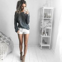 Gray Loose T-Shirt  13297