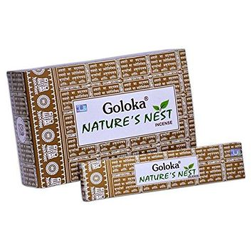 Goloka nature series collection high end incense sticks- 6 boxes of 15 gms (Total 90 gms) (Nature's Nest)