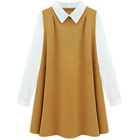 Color Block Cambric Dress Ginger