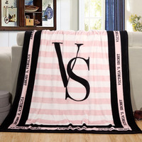 Pink VS Blanket Manta Fleece Blanket Throws on Sofa/Bed/Plane Travel Plaids Bedding Set 130x150cm Flannel Blanket free shipping