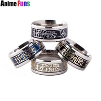 4 color Game League Of Legends Logo Ring For Men Women LOL Titanium Steel Frosted Wedding Party Ring Charm Gift drop-shipping