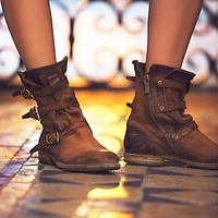 A.S.98 Womens Topanga Buckle Boot