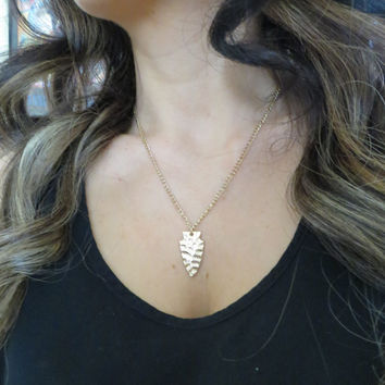 Gold Arrowhead Chain Layering Chain Necklace