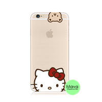 Hello Kitty iPhone 6s 6 Plus SE 5s 5 Soft Clear Case