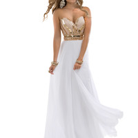 Sweetheart Beaded Top Formal Prom Dress Flirt P4857