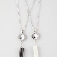 Full Tilt 2 Piece Yin Yang/Crystal Necklace Silver One Size For Women 26501914001