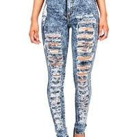 Acid Wreck High Waist Skinnys | Jeans at Pink Ice